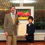 小学生の部第1位 中條陽資さん ⒸGerman Embassy Tokyo 撮影:柳谷克実