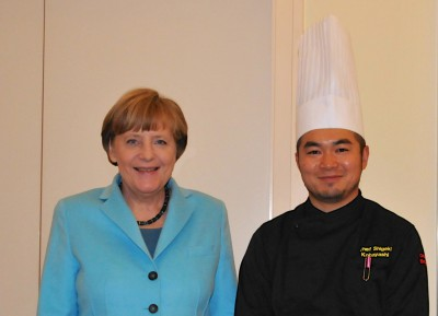 Das Essen unseres Kochs hat der Bundeskanzlerin offenbar gut geschmeckt.  © Sudo, Deutsche Botschaft