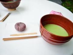 お抹茶と手作りの和菓子