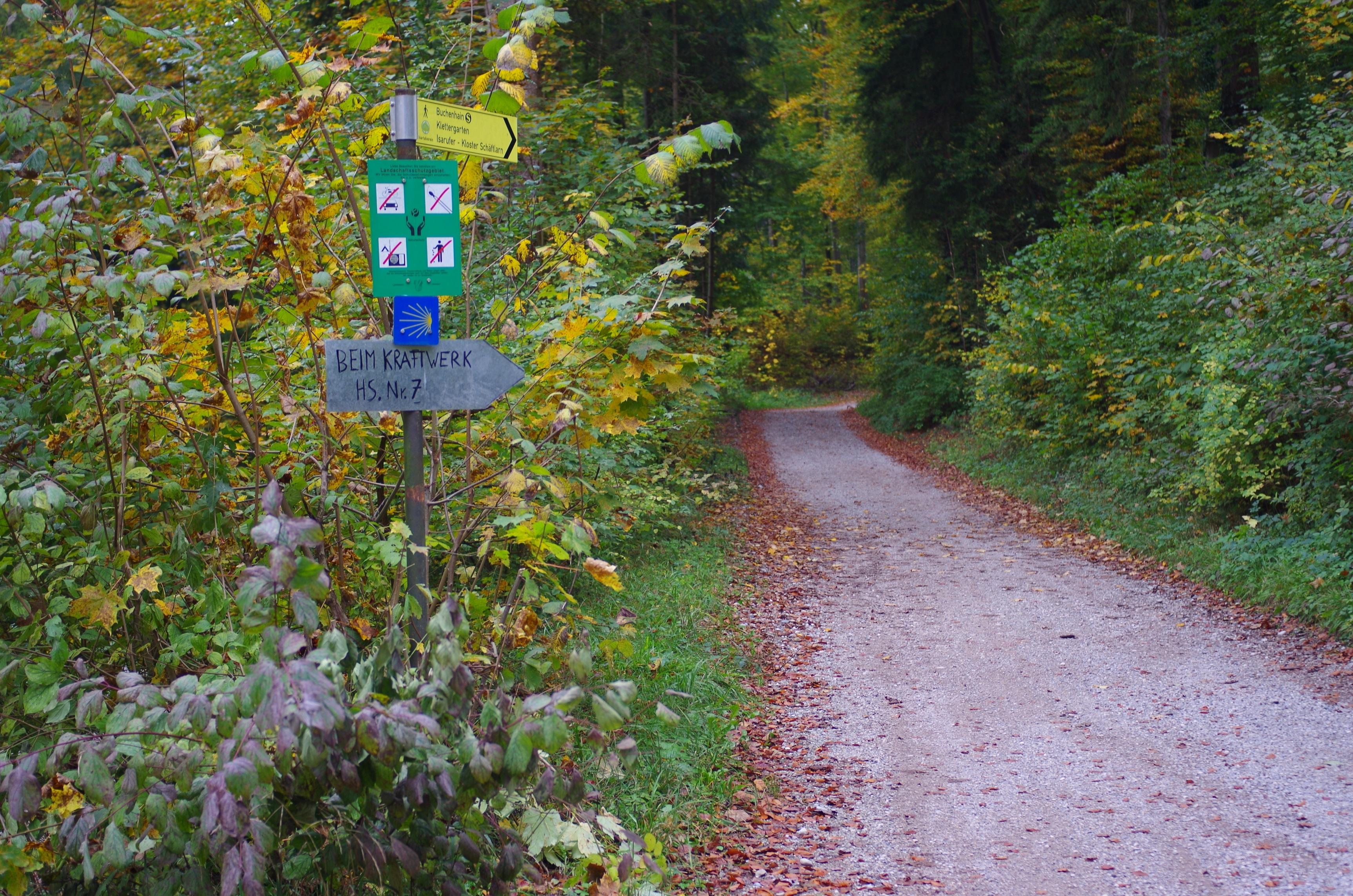 山道でホタテの道しるべに出合うと心からほっとする。