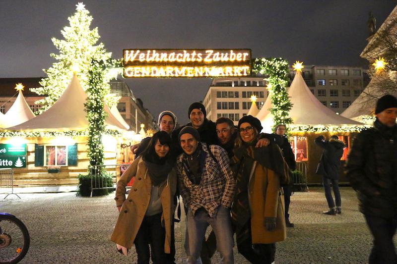 チームで訪れた、ベルリンのクリスマスマーケット