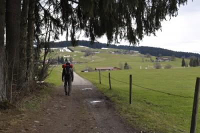 先を歩く夫の背中も、見慣れた風景のひとつ。