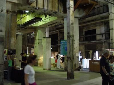 (DMYの会場となったクラフトヴェルクは無機質なコンクリートが印象的な建物。)