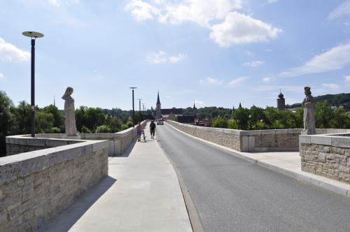 橋の向こうに見えるのがオクセンフルトの街です。