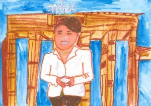 小学校の部 第3位 『名誉がある人』 吉良 紳之介 さん 竹田市立豊岡小学校 ©German Embassy Tokyo