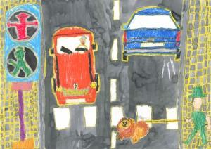 小学校の部 第2位 『今でも現役!アンペルマンとトラバント』 佐々木 脩 さん 聖ドミニコ学院小学校 ©German Embassy Tokyo