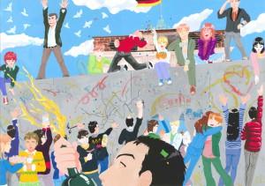 中学校の部 第3位 『ようこそ西ベルリンへ』 るるか さん 名古屋市立前津中学校 ©German Embassy Tokyo