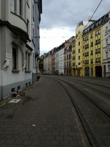 中心地Johanneskirche近くの通り
