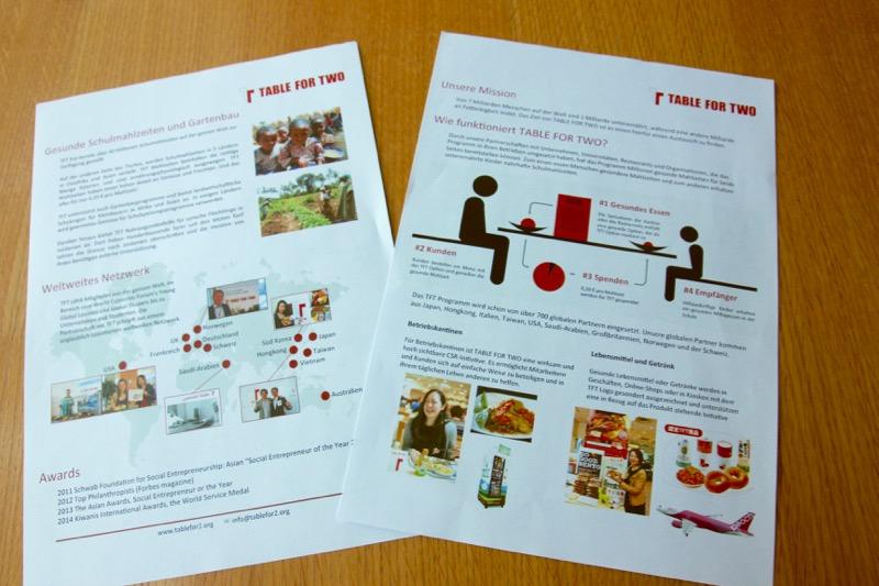 活動内容を紹介するドイツ語版資料を作成