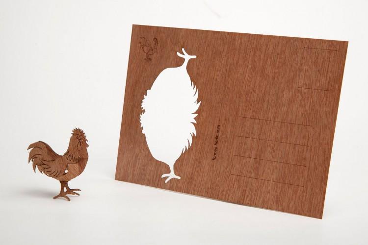 写真4 3Dモチーフ「雄鶏」