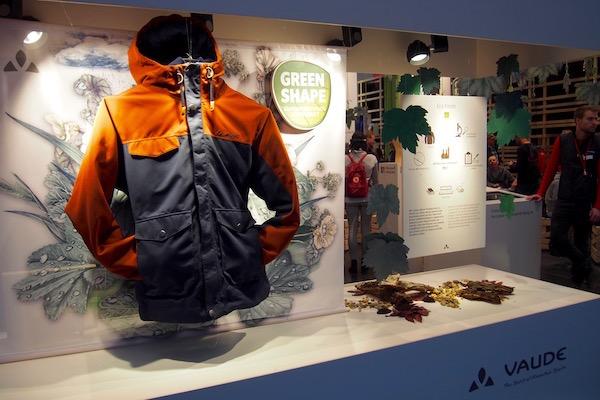 ファウデのブースでは「Green Shape」ラベルの展示が盛んに行なわれていた Photo: Aki SCHULTE-KARASAWA