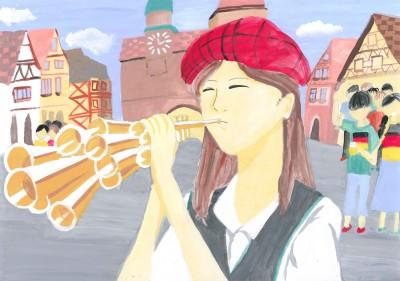 『シャリュマイをふく女』 名古屋市立猪子石中学校 奥村美空さん ©German Embassy Tokyo