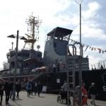ドイツ版海上保安庁の監視船「SEEFALKE」号 ©GK-Osaka