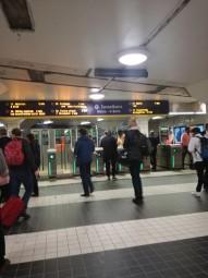 ストックホルムのT-Centralen(地下鉄中央駅)の改札