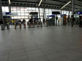 ユトレヒト中央駅の改札