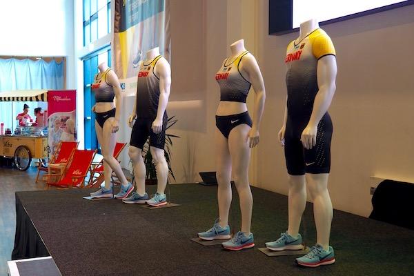 会場に展示されたドイツナショナルチャンピオンの公式ウェア Photo: Aki SCHULTE-KARASAWA