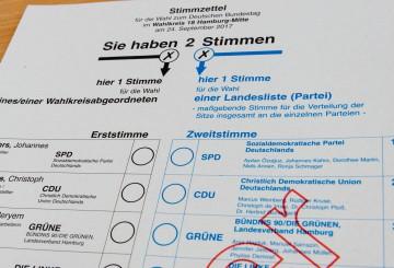 投票用紙(見本)©dpa
