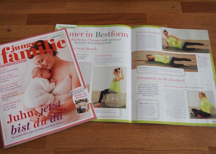 マタニティーヨガはドイツでポピュラー。出産準備家庭向けフリーマガジンにも、毎回ヨガ+αのポーズやトレーニング方法が掲載されている Photo: Aki SCHULTE-KARASAWA