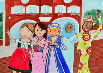 小学校の部 第1位 『夢見るダイバーシティ』 大平 あやの さん(守谷市立郷州小学校) ©German Embassy Tokyo