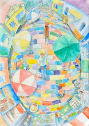 中学校の部 第3位 『花のレンガ道』 齋藤 ひなた さん(座間市立相模中学校) ©German Embassy Tokyo