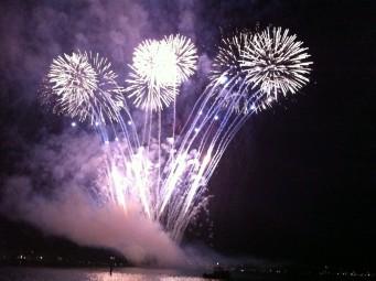 日本のような花火大会もあります (写真はBodensee)