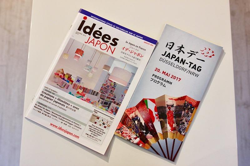 日本デーとイデ・ジャポンのパンフレット。どちらも大人気の日本イベント。