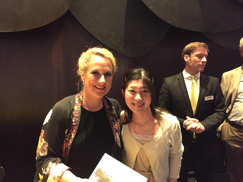 ベルリンのドイツチェ・オーパーで開かれた、大ファンのドイツ人ソプラノ歌手、Diana Damrauさんのコンサートにて。日本では数万円もするコンサートが、クラシックカード利用で8ユーロで聴けた。