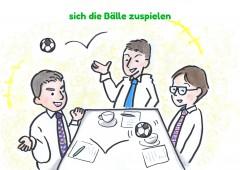 【今週のドイツ語】sich die Bälle zuspielen