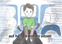 【今週のドイツ語】auf heißen Kohlen sitzen