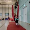 友人に誘われ「ヴィンデルフリッツァー」(Windelflitzer)に体験参加。広々の室内空間で自由に遊ぶことができる Photo: Aki SCHULTE-KARASAWA