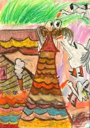 小学校の部 第2位 『うちの屋根にこうのとりがとんでくる』 宇留鷲 愛 さん(守谷市立守谷小学校) ©German Embassy Tokyo
