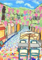 中学校の部 第2位 『フライブルクの藤の花のトンネルをくぐって歩きたいな』 鈴木 梨央 さん(セントヨゼフ女子学園中学校) ©German Embassy Tokyo