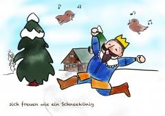 【今週のドイツ語】sich freuen wie ein Schneekönig