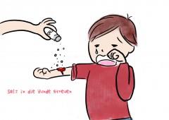【今週のドイツ語】Salz in die Wunde streuen