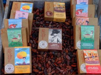 パッケージも可愛くておしゃれ!柚子や抹茶を使ったチョコレートもあります。