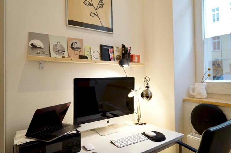 水島さんの自宅兼仕事場。すっきりと、気持ちのいい空間です。
