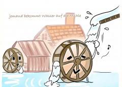 【今週のドイツ語】jemand bekommt Wasser auf die Mühle