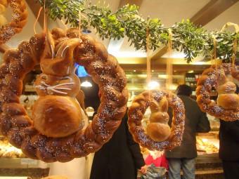 ローテンブルクのパン屋さんのウィンドウ