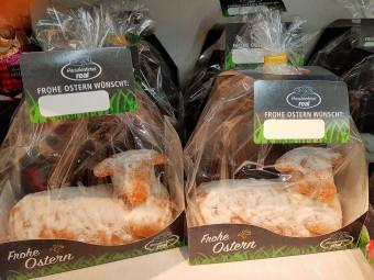 羊型のケーキ。どの部分から食べるか悩ましい…