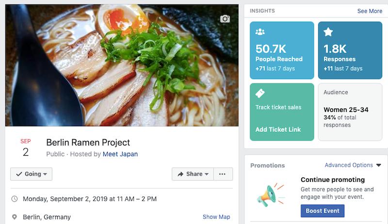 まずFacebookページを作成し、参加予定者が集まったところで開催。