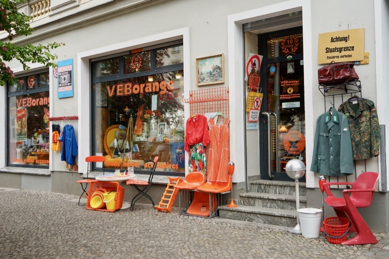 東ドイツグッズファンなら、ここ「ファオ・エー・ベー・オランジェ」(VEB orange)は見逃せません。