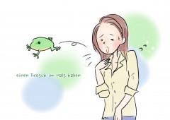 【今週のドイツ語】Frosch im Hals