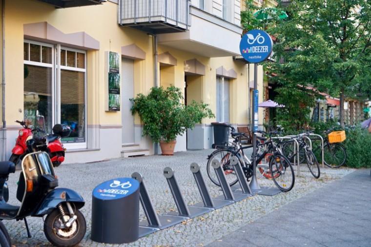 このシェアバイクサービス会社は、きちんと駐車スペースを持っています。