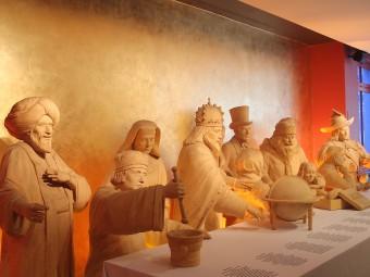トーマス・マンなどマジパンでできたリューベックの偉人像。ニーダーエッガーにて