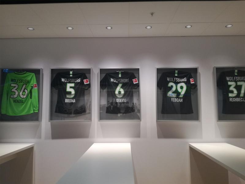 WolfsburgサッカースタジアムVIPラウンジ。