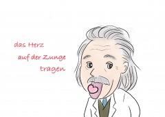 【今週のドイツ語】das Herz auf der Zunge tragen