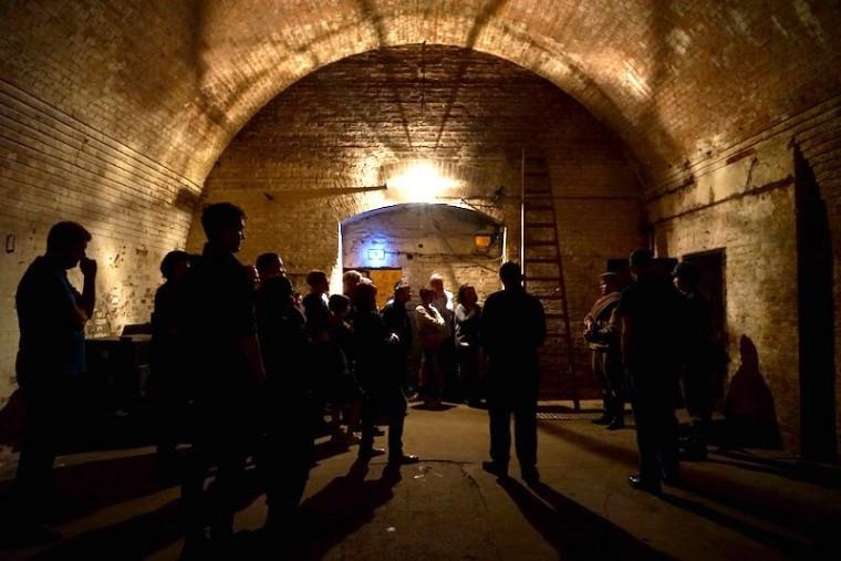 シュナイダー・ブラウエライの地下。戦時中は防空壕としても使われていました