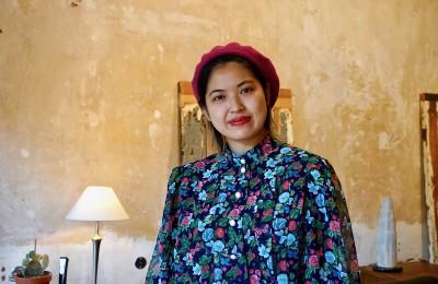 ベルリンの美容室で働く長谷川倫子さん。