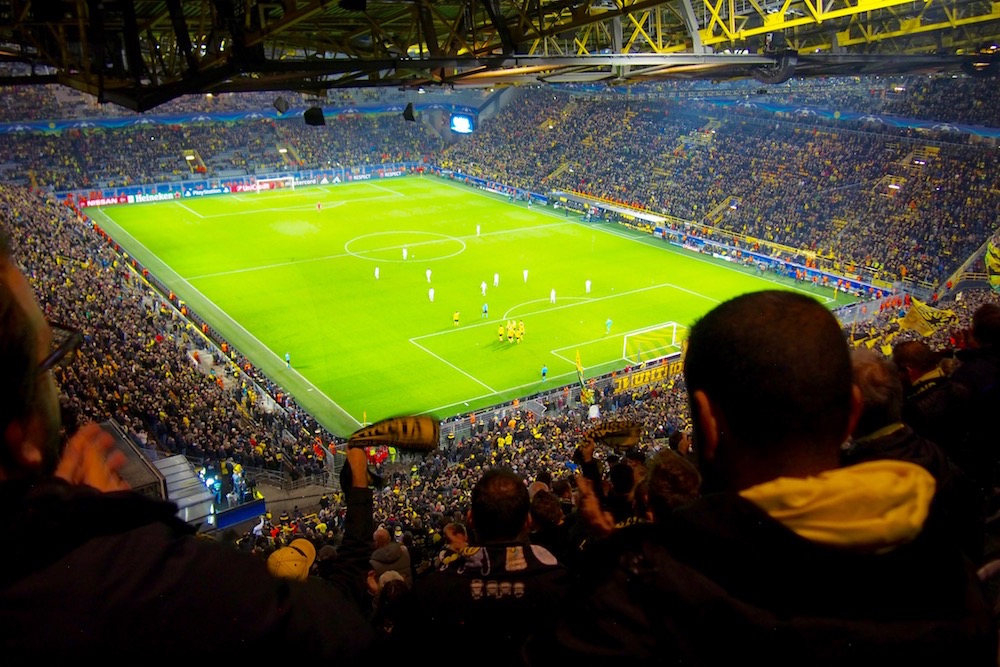 ドルトムントのスタジアム「ジグナル・イドゥナ・パーク」は、ドイツ最大。収容人数8万1359人を誇る Photo: Aki SCHULTE-KARASAWA