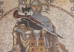 床のモザイク画は陶器で有名なマイセンが手がけたそう。